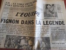 JOURNAL L'EQUIPE TOUR DE FRANCE FIGNON DANS LA LÉGENDE . LEMOND 1984 (A)