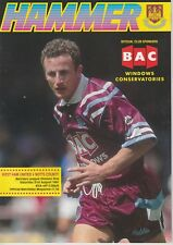 WEST HAM FOOTBALL PROGRAMMES 1991-92 ~ YOU CHOOSE OPPONENTS EXCELLENT CONDITION