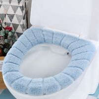 Universal Toilet Seat Cover Lithe Warm Thickening Coral Fleece Cushion Washable