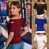 Women Blouse Cold Shoulder Sexy Slim Fit T-shirt Short Sleeve Summer Casual Tops