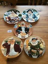 Set Of Five Davenport Pottery Co Ltd - Limited Edition Toby Plates