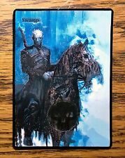 Magic the Gathering MTG altered art Game of Thrones Night King Swamp