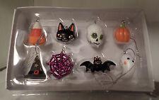 8 HALLOWEEN ORNAMENTS TREE DECOR CRAFT CANDY CAT GHOST BAT SKULL WEB HAT PUMPKIN