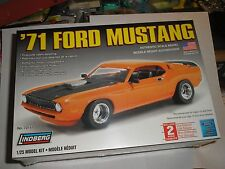 LINDBERG 1:25 SCALE 1971 FORD SUPER STREET MUSTANG PLASTIC KIT MADE IN USA