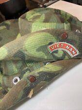 1960's Vietnam War Us Army Usaf Camo Boonie Hat Advisor Souvenir? Child's Hat?