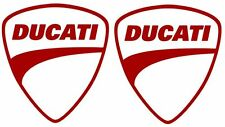 "2X Ducati Red Vinyl Sticker Decal 4"" Logo Racing"