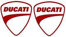 "2X Ducati Red Vinyl Sticker Decal 4"" Logo Racing"