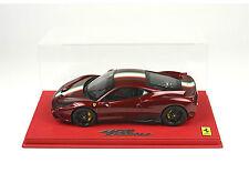 BBR 2013 Ferrari 458 ITALIA SPECIALE DARK RED METALLIC 1:18 DELUXE LE 20pc Rare!
