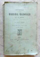 *** SOUVENIRS DU MARECHAL MACDONALD, DUC DE TARENTE - 1892 - REVOLUTION & EMPIRE