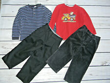 Gymboree Place Toddler Boys Sz 4 4T Lot Of 2 Shirts & 2 Pants Dress & Corduroy)