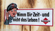 "Auto Aufkleber Sticker "" Nimm Dir Zeit "" Gasoline Youngtimer / Käfer T1 T2 T3 V6"