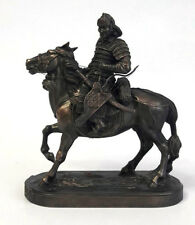 Mongolian Horse Warrior with Bow Sculpture