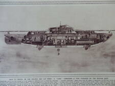 1915 LAKE SUBMARINE OF THE RUSSIAN NAVY DOUBLE PAGE WWI WW1