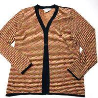 Exclusively MISOOK Multicolor Knit Women's Cardigan Sweater, Size Medium