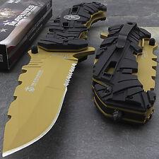 "9"" Usmc Mtech Usa Marines Tan Spring Assisted Tactical Folding Pocket Knife"