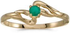 10k Yellow Gold Round Emerald Ring (CM-RM1039-05)