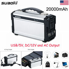 Suaoki 200W 20000mAh Solar Power Inverter Generator Supply Energy Storage Source