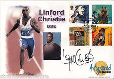 1999 Coloni-Westminster Autografato Edizioni OFF-firmato Linford Christie