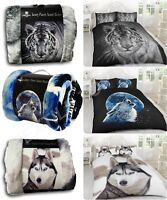 3D ANIMAL PRINTED SOFA BED THROW FLEECE CHICK BLANKET SOFT WARM DOUBLE KING