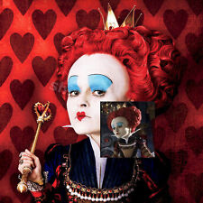 Anime Alice in Wonderland Red Queen of Hearts W/Crown Costume Wig+Hairnet