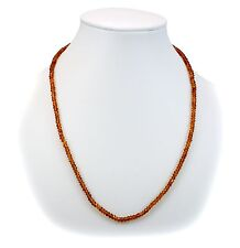 Dark Citrine Natural Faceted Necklace solid strand Sterling Silver chain 18 Inch
