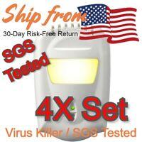 4x Pandemic Lockdown Anion Air Sterilizer Kill Germ & Oder (SGS-Proven, UV-Like)