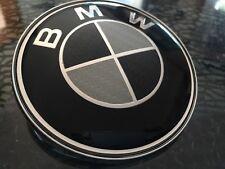BMW Emblem 82mm 2Pin Motorhaube Heckklappe 3 5 6 7 Logo  CARBON FIBER schwarz