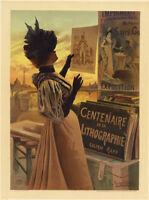 """Orig. 1897 """"Centeniaire Lithographie"""" F. Hugo d'Alesi, Maîtres de L'Affiche PL66"""