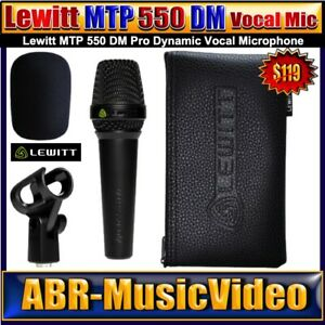 LEWITT MTP 550 DM  Pro Dynamic Vocal Microphone/ 2 Year Manufacture Warranty