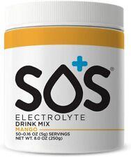 SOS Hydration Electrolyte Drink Powder Hydration Mix - 50 Serve Tub - Mango