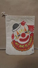 Halloween canvas candy bag with clown picture