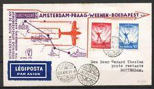 1e KLM VLUCHT BUDAPEST 21.APR.1936 ROTTERDAM 22.IV.1936          Ro240