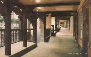 Chester.  The Rows.  Salmon Postcard in fair condition (written on -date 1970)