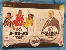 Xbox Fußball Manager 2004 + FIFA 2004 - NEU / EINGESCHWEISST