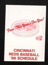 Cincinnati Reds--1986 Pocket Schedule--Arnold Printing