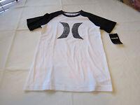 Boys Youth Hurley T shirt M medium 10-12 years NEW 981894-249 white black NWT