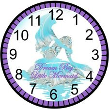 "9"" Personalized Mermaid Wall Clock"