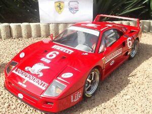 1:8 POCHER Ferrari F40 #6 L'Indipendente (no BBR KYOSHO ELITE CMC 1:18 1:43 1:24