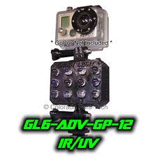 Ghost Light ™ GL6-ADV-GP12 IR/UV LED Full Spectrum Gopro Camera Light Paranormal