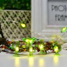 LED 3 Meters 30 Fairy Lights Green Cactus Copper Wire Light Wedding Party Decors