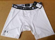 Under Armour UA Heatgear Compression Short Sn40. da Uomo. BIANCO. XL. NUOVA con etichetta.