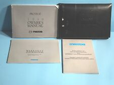 99 1999 Mazda Protege owners manual