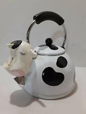 Vintage Cow M Kamenstein Tea Kettle - Porcelain Enamel