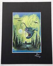EL GATO GOMEZ PRINT SCI-FI PULP UNDERSEA ANGLER FISH SPY KITSCHY FANTASY POP ART