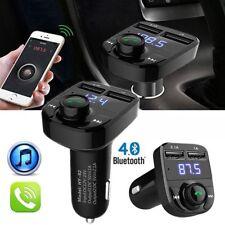 Wireless Bluetooth Fm Transmitter Handsfree Car Kit Dual Usb Charger Mp3 Player