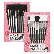 10 x Make Up Brush SET PROFESSIONALE fard ombretto pennello per sopracciglia