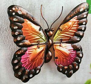 Dekoschmetterling NEU 24 cm gross Wanddeko Schmetterling Metall und Glas