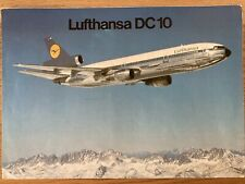 LUFTHANSA AIRLINES DC10 BROCHURE 1979 ROUTE MAP