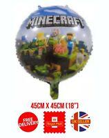 Minecraft Foil Balloon Birthday Party Mine Craft Pixel TNT Balloon UK FREE P&P