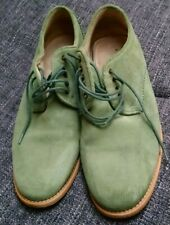 Ask The Missus Green Suede Men Lace up Shoes